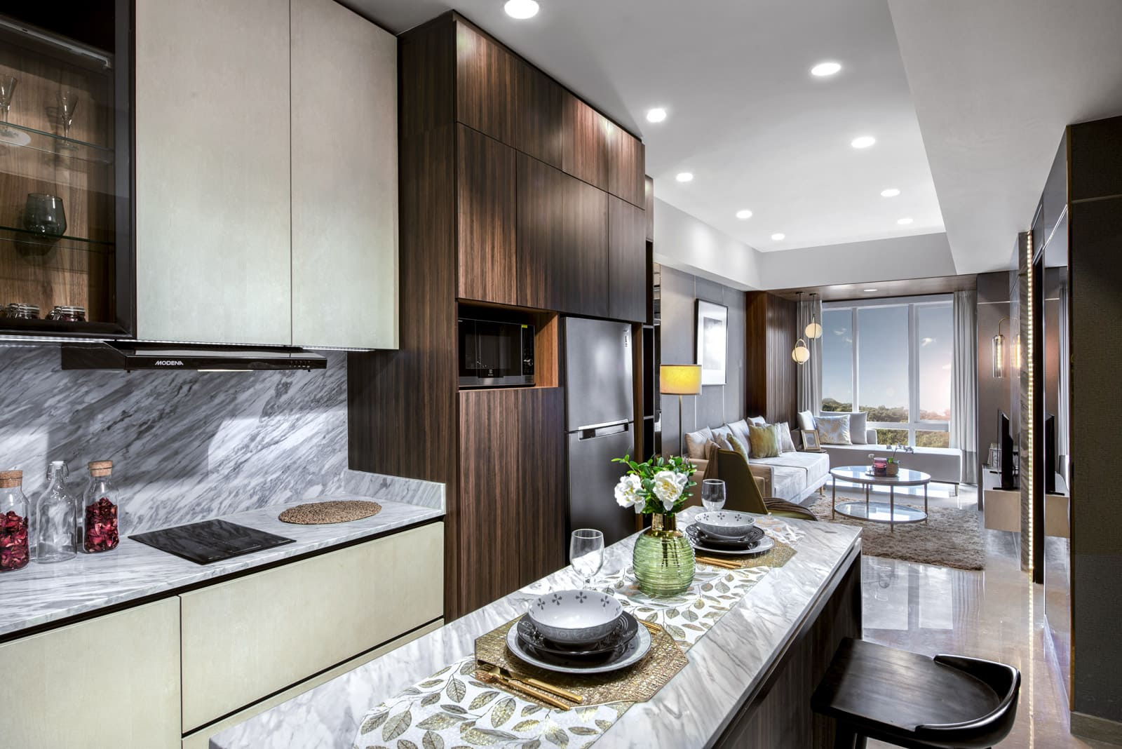 Luxurious Deluxe (A,L) - Kitchen _ Dining Room