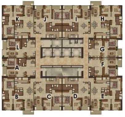Luxurious Deluxe (A,L) - floor plan