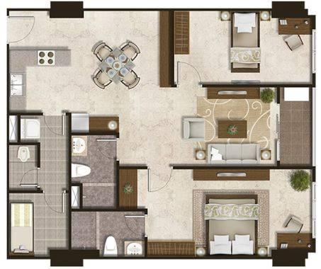 Luxurious Premier (Southern H 1- 6th floor) Denah