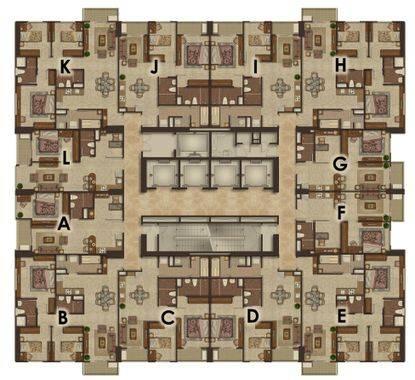 Luxurious Suite A (H,K) - Floor Plan