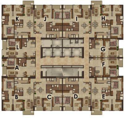 Luxurious Superior (I,J) - Floor Plan